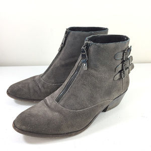 Rebecca Minkoff 7 Gray Suede Leather Ankle Boots
